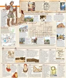 En el Valle de Almolonga se levantaron primitivas edificaciones. (Infografía Prensa Libre: Kevin Ramírez)