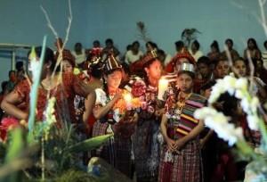 Cada vez es más difícil conseguir participantes para Reina Indígena de San Sebastián. (Foto Prensa Libre: Rolando Miranda)