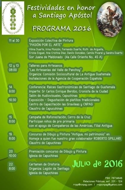 11 julio Programa Santiago Apóstol